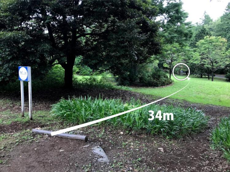 昭和記念公園コース1番ホール