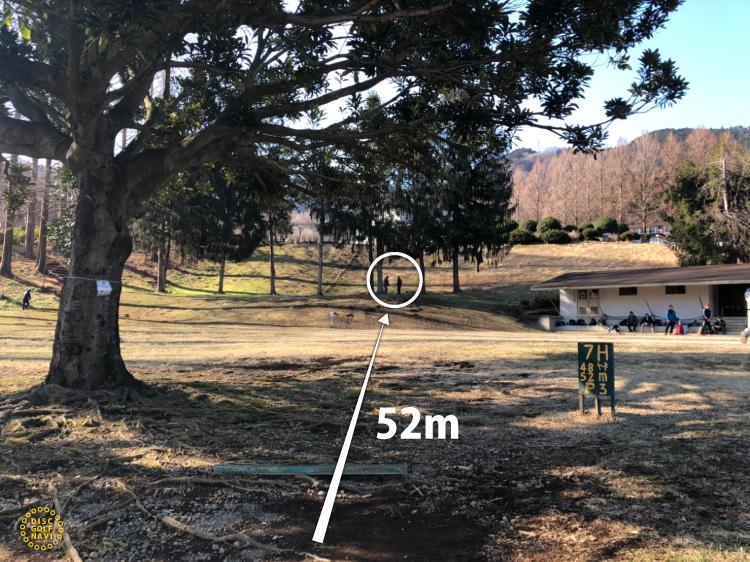 愛川ふれあいの村ディスクゴルフコースオリジナルコース7番ホール