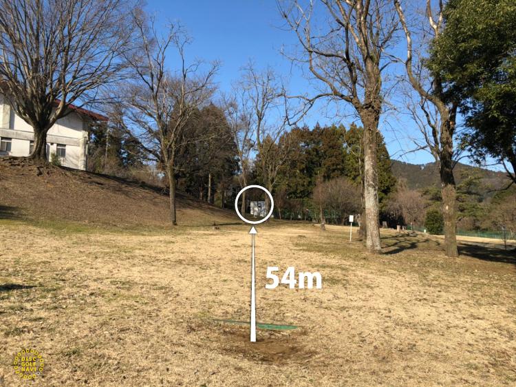 愛川ふれあいの村ディスクゴルフコースオリジナルコース8番ホール