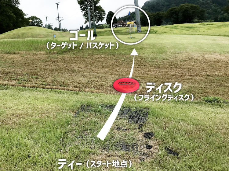ディスクゴルフの遊び方